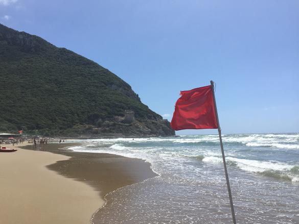 Settembre al mare di Sabaudia in spiaggia